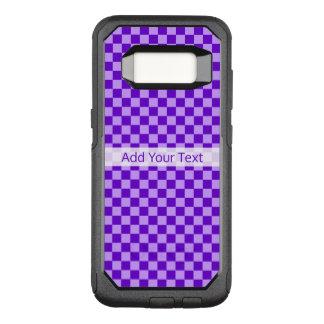 Het paarse Schaakbord van de Combinatie door OtterBox Commuter Samsung Galaxy S8 Hoesje