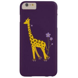 Het paarse Schaatsen van de Rol de Grappige Giraf Barely There iPhone 6 Plus Hoesje
