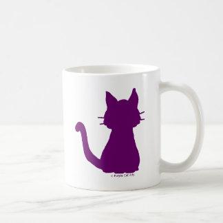 Het paarse Silhouet van de Kat Koffiemok