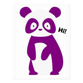 Het paarse Spreuk van de Panda hallo! Briefkaart