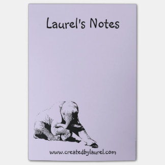 Het paarse Stootkussen van de Nota met de Olifant Post-it® Notes