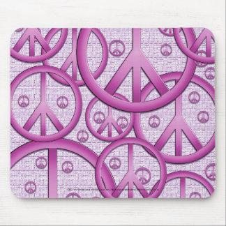 Het paarse Teken Mousepad van de Vrede Muismat