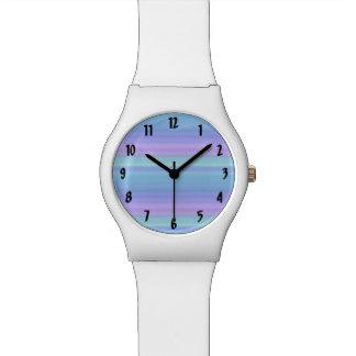 Het paarse Turkooise Groenachtig blauwe Horloge
