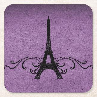 Het paarse Vintage Frans bloeit het Onderzetter