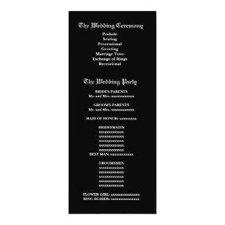 Het paarse Vintage Programma van het Huwelijk van 10,2x23,5 Uitnodiging Kaart
