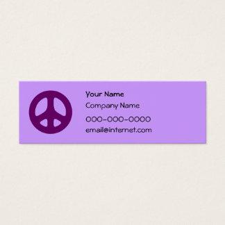 Het paarse Visitekaartje van de Douane van het Mini Visitekaartjes