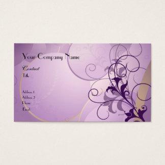 Het paarse Visitekaartje van de Hartstocht Visitekaartjes