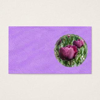 Het paarse Visitekaartje van Tulpen