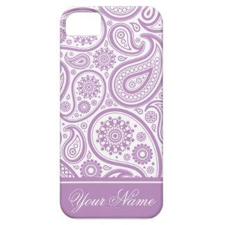 Het paarse Witte BloemenPatroon van Paisley Barely There iPhone 5 Hoesje