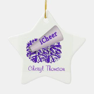Het paarse & Witte Ornament van de Ster