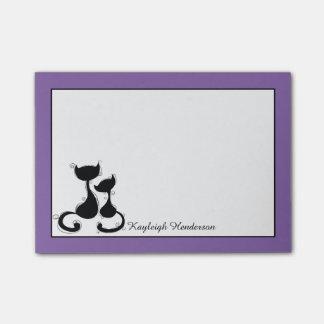Het paarse Witte Zwarte Gepersonaliseerde Silhouet Post-it® Notes