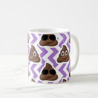 Het paarse Zig Patroon van Emoji van het Koffiemok