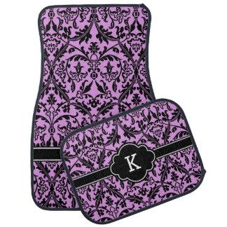 Het paarse Zwarte Monogram van het Damast B9 u Auto Vloermat