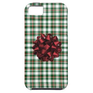Het pakket rode boog van Kerstmis Tough iPhone 5 Hoesje