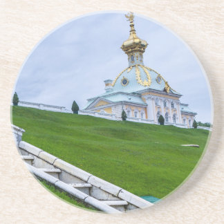 Het Paleis en Tuinen St. Petersburg Rusland van Zandsteen Onderzetter
