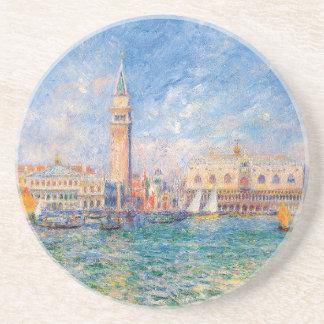 Het paleis van de Doge, Venetië door Renoir Zandsteen Onderzetter