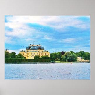 Het Paleis van Drottningholm in Zweden Poster