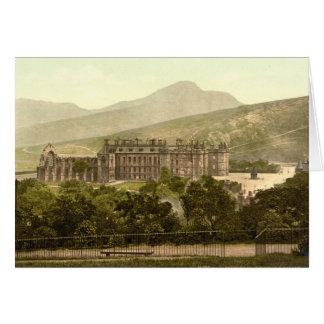 Het Paleis van Holyrood, Edinburgh, Schotland Kaart