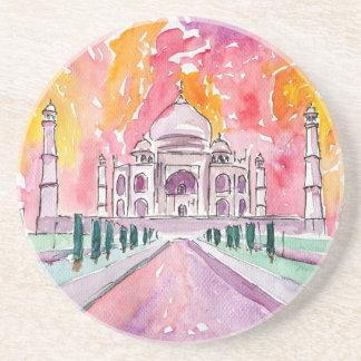 Het paleis van India bij zonsondergang Zandsteen Onderzetter