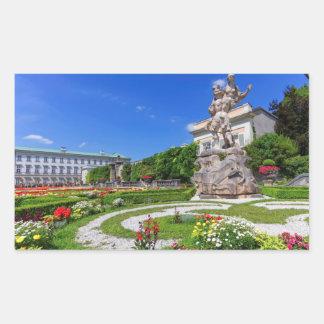 Het paleis van Mirabell en tuinen, Salzburg, Rechthoekige Sticker