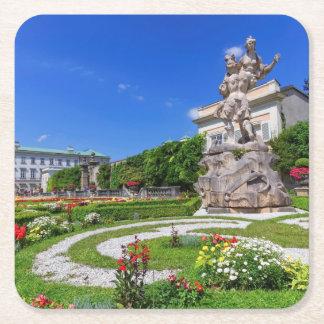 Het paleis van Mirabell en tuinen, Salzburg, Vierkante Onderzetter