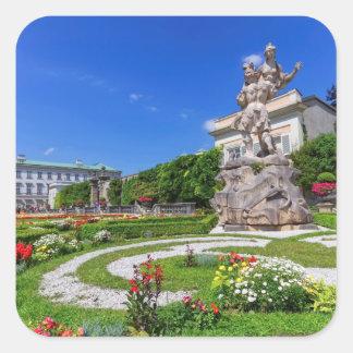 Het paleis van Mirabell en tuinen, Salzburg, Vierkante Sticker