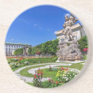 Het paleis van Mirabell en tuinen, Salzburg, Zandsteen Onderzetter