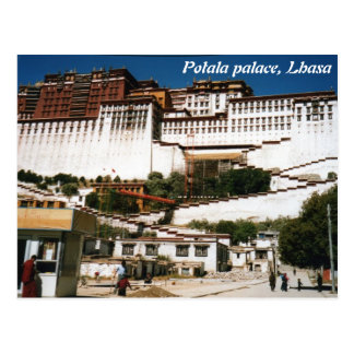 Het Paleis van Potala, Lhasa, briefkaart