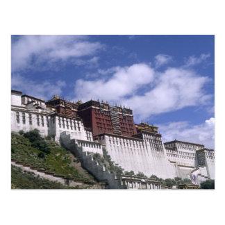 Het Paleis van Potala op berg het huis van Dalai Briefkaart