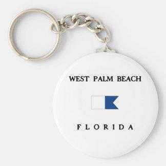 Het Palm Beach van het westen Sleutelhanger