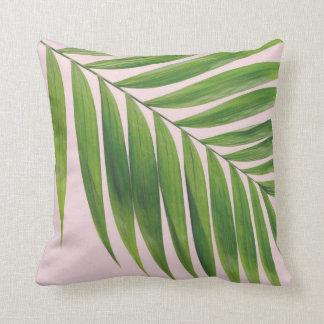 Het palmblad bloost Roze werpt Hoofdkussen Sierkussen