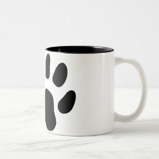Het pand van de kat tweekleurige koffiemok