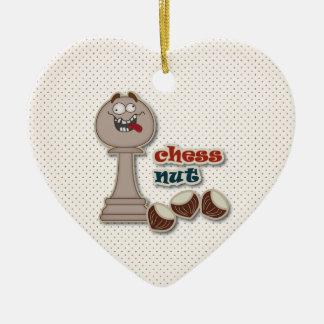 Het Pand van het schaak, de Noten van het Schaak Keramisch Hart Ornament