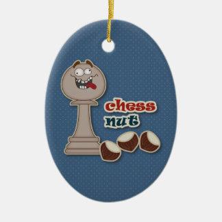 Het Pand van het schaak, de Noten van het Schaak Keramisch Ovaal Ornament