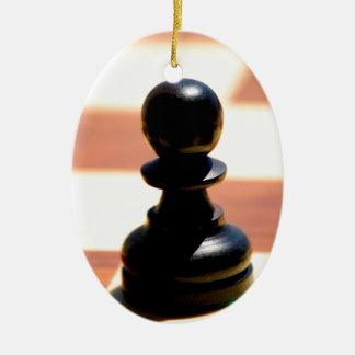 Het Pand van het schaak Keramisch Ovaal Ornament