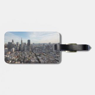 Het Panorama van de Horizon van San Francisco Kofferlabel