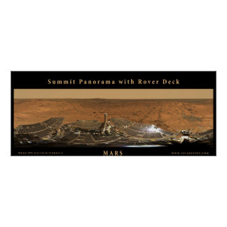 Het Panorama van de Top van Mars met het Dek van Poster
