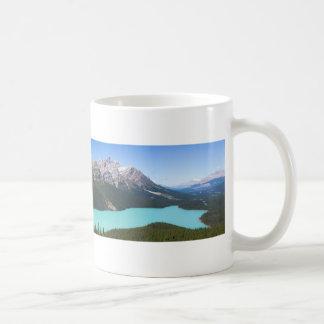 Het Panorama van het Meer van Peyto, Banff Alberta Koffiemok