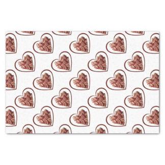 Het Papieren zakdoekje van het Hart van het bacon Tissuepapier