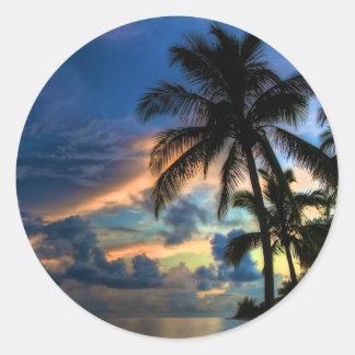 Het paradijs… is waar u bent! ronde sticker