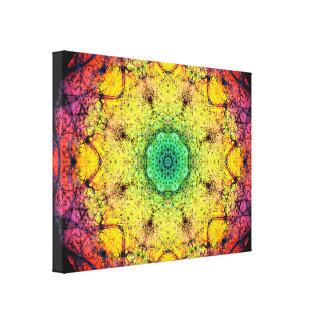 Het Paradijs Mandala van de kleur Canvas Afdrukken