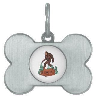 Het Paradijs van Bigfoot Huisdieren Naamplaatje