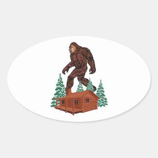 Het Paradijs van Bigfoot Ovale Sticker