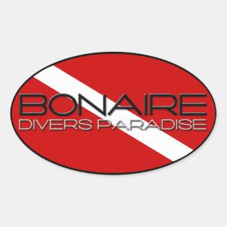 Het Paradijs van de Duiker van Bonaire Ovale Sticker
