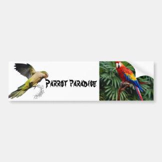 Het paradijs van de papegaai bumpersticker