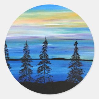 Het Paradijs van de pastelkleur Ronde Sticker