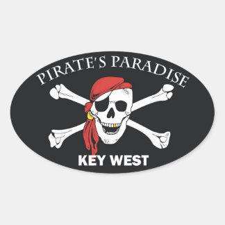 Het Paradijs van piraten Ovale Sticker
