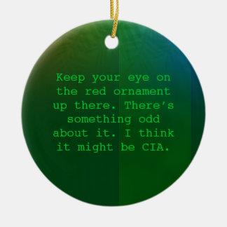 Het paranoïde ornament van Kerstmis