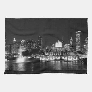 Het Park Chicago Grayscale van de toelage Keuken Handdoeken