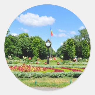 Het Park van Cismigiu in Boekarest, Roemenië Ronde Sticker